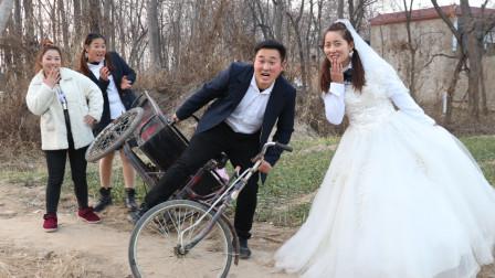 校园下乡记下:大壮骑着三轮车,没想半路竟骑翻车了,结局太逗了