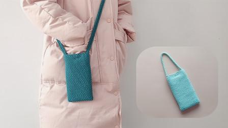 钩针编织,好看又简单的单肩包,还能做成手拎袋,出门用很方便编织方法图