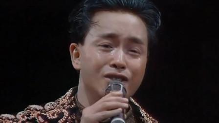 1989年张国荣宣布告别歌坛,一首《风继续吹》泪洒现场,太感人了