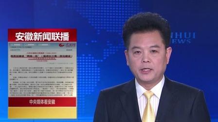 """李锦斌接受人民日报社记者专访 畅谈高质量建设""""两地一区"""" 安徽新闻联播 20200118 高清"""