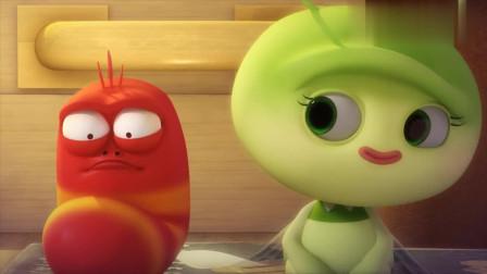 爆笑虫子:两个虫子因为一个西红柿产生了爱情,小红向绿精灵求婚还亲了它