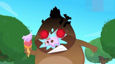 动画:细菌大王的左膀右臂全不在身边,气坏大王,只能亲自动手了