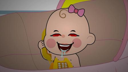 恐怖动画:奇怪,家里只有我和宝宝,警察却说电话是从房间打来的