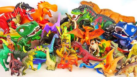 玩具盒子之侏罗纪恐龙模型变形玩具展示
