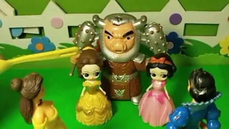 牛魔王抓住了白雪公主,要让白雪和他一起修炼,谁能救救白雪公主