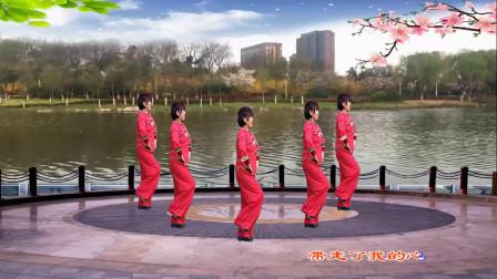 三友矿山广场舞【等待你的爱】简单16步水兵舞演示;凤梅