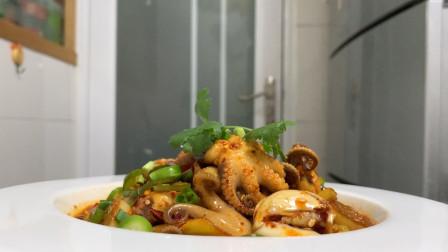 八爪鱼如何做出特色?试下厨师长的这种做法,看着都非常有食欲