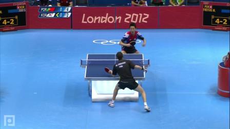 2012奥运会 男团 韩国vs葡萄牙 第2盘 朱世赫vs费雷塔斯 乒乓球比赛