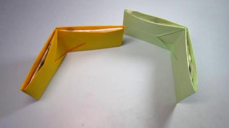手工折纸,钱包的折法,简单又实用一学就会
