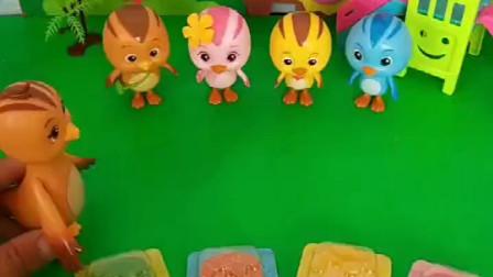 鸡妈妈给孩子发糖果,但是妈妈要检查牙齿,谁的牙齿不能吃糖呢?