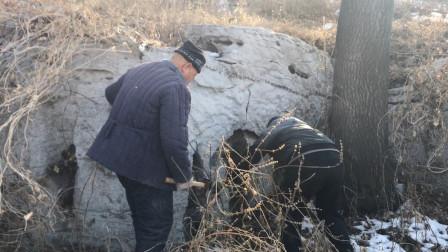 农村小伙上山找寻黄荆木弹弓,巧遇千年古物,大自然的魅力太神奇