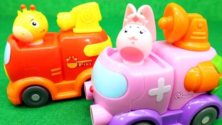 救援宝贝玩具救援队 1号消防车 2号医疗车