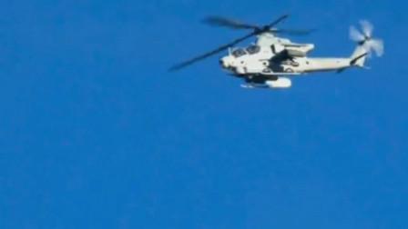 美军AH-1眼镜蛇直升机帮助山地战美军快速对地攻击