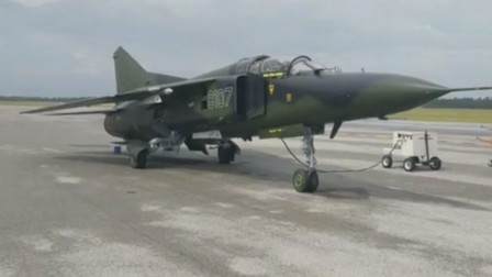 米格-23战斗机在地面维护保养
