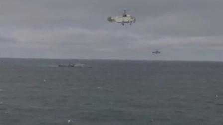黑海舰队卡27反潜直升机和暴徒级导弹快艇