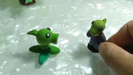 小豌豆和小僵尸在比谁厉害,最后他们的妈妈来了,豌豆大炮把僵尸打倒了。