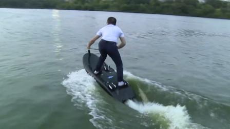 人板合一!大叔自制无敌冲浪板,能续航100多公里,还带断电保护