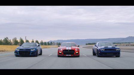 【机翻转载】 福特Mustang GT500 vs 雪佛兰Camaro ZL1 1LE vs 道奇Challenger Hellcat Redeye 直...
