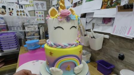 蛋糕创意新玩法:把它做成逼真的独角兽,小女孩看了绝对会喜欢哦