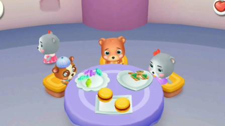 皮皮和点点的小小KTV,玩的好开心哦!宝宝巴士游戏