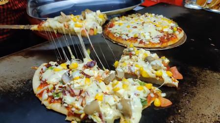 这样做出的芝士披萨太好玩了!可以拉出很高的丝,现做现卖超诱人