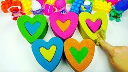 百变创意DIY心形益智玩具,早教启蒙认知小朋友学习认识颜色啦!