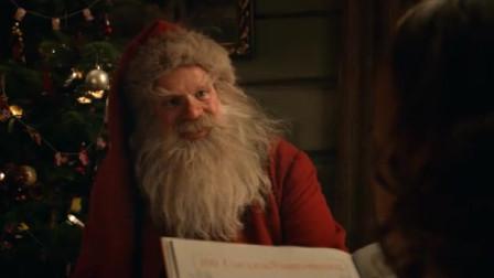 小女孩见到圣诞老爷爷,怀疑是假的,圣诞老爷爷自证身份