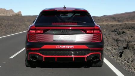 20款奥迪RS8,600匹马力的奥迪,赛车防滚架都安排上了