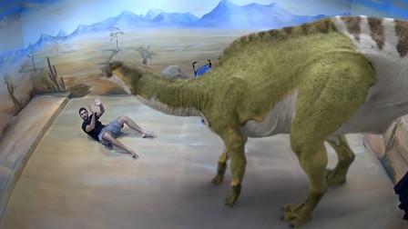 国外3D幻影博物馆,走进去就像穿越,能和恐龙亲密接触!
