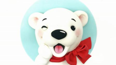 手工糕点教程,北极熊蛋糕的制作方法,简单又有创意!