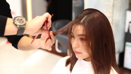 中长发修剪调量造型技巧,学会这几招,剪一款流行的发型