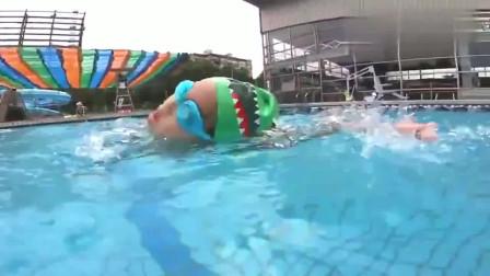 4岁儿子自由泳25米只用了43秒,这速度比我还快!