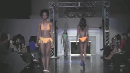 米兰时装周Virginia品牌泳装发布会走秀,非洲模特总能给人非一般的感觉!