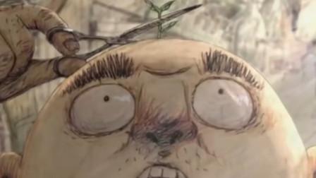 脑洞短片《头山》男子吃樱桃从不吐核,结果头上长出了一个樱花树