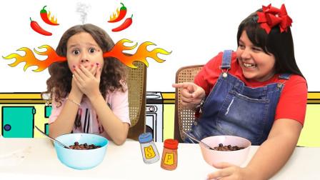 咋回事?萌宝小萝莉吃了什么东西为何这么辣?趣味玩具故事