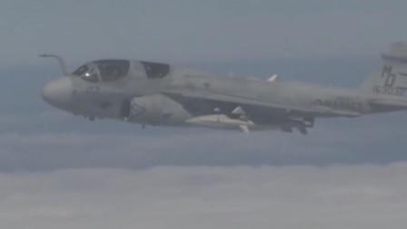 美军航空母舰上的电子战机EA-6电子战机