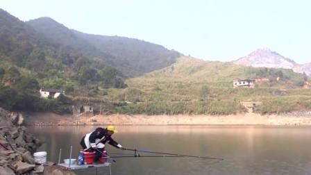 老瑭再战大水库,第一尾开竿就是17斤的青鱼,怎么看都不像上了十斤的鱼