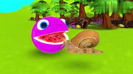 吃豆人吃了蜗牛后变了模样