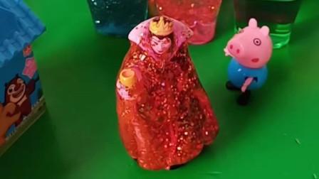 乔治用水晶泥把王后收拾了,然后把她关了起来,僵尸来了乔治也一样收拾!