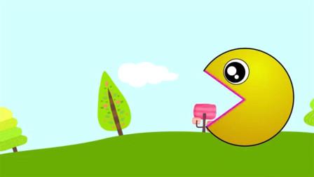 吃豆人大作战:吃豆人吃了不同的东西后变了颜色