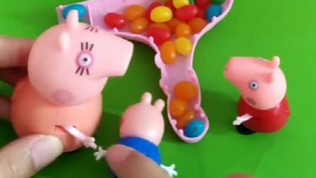 佩奇拿不动吹风机,妈妈打开一看里面都是糖果,把乔治打了一顿