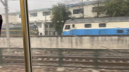 2019120湘桂高铁 乘坐CRH2D8405次桂林北海出柳州站通过机务段与编组场
