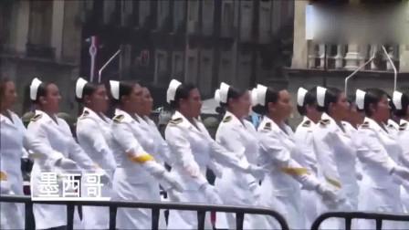 不愧是盛产美女的国家,女兵肤白貌美,真是太养眼了