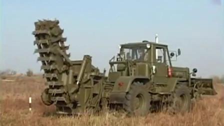 俄罗斯的这个军用设备是刨土的?