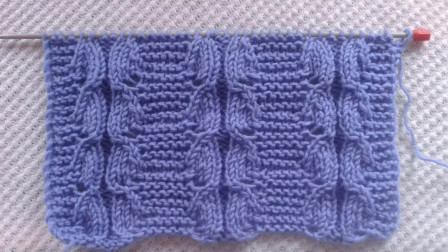 适合织毛衣的棒针花样,一款双半花编织教程,恰到好处的自然简约