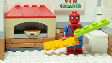 制作美味披萨和玩具乐高