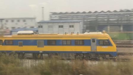 2019120湘桂高铁 乘坐CRH2D8205次桂林北海宾阳站发车 待避HXD1D牵引T26南宁上海南同步反向发车 新型高铁轨检车停放
