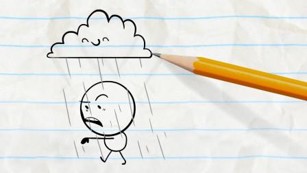 阿呆胆子真小 还是小美勇敢 铅笔画小人游戏