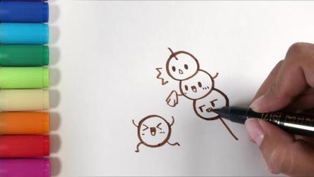 儿歌多多儿童简笔画 糖葫芦 新年一定不能错过的特色美食糖葫芦