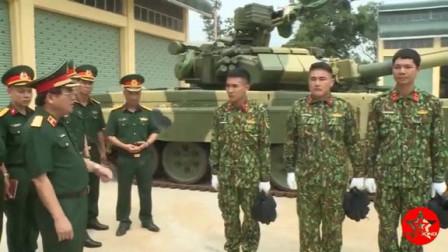 激动坏了!实拍越南展示新到货的T-90s主战坦克